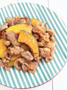 かぼちゃと豚肉の甘辛焼き