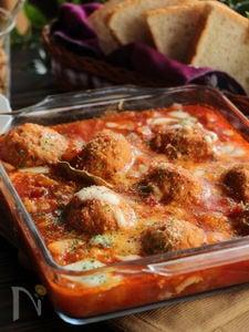 れんこんミートボールのトマト煮込み