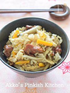 やきとり缶と塩こんぶの炊き込みごはん 缶詰レシピ