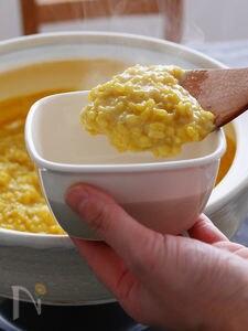カレー鍋の後のチーズカレー雑炊