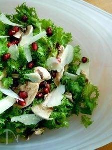 マッシュルームとわさび菜のサラダ