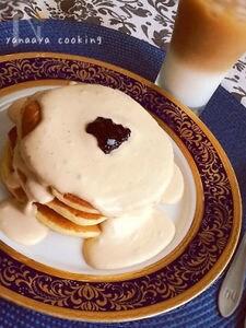 アールグレイTeaクリームたっぷりフワモチパンケーキ♡