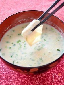 甘湯葉の豆乳汁