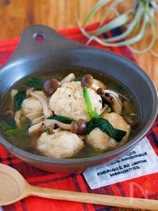 材料入れてサッと煮るだけ♪『鶏団子と小松菜の和風あん』