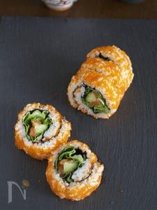 紅白裏巻き寿司
