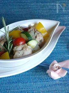 夏野菜と鶏のハーブソテー