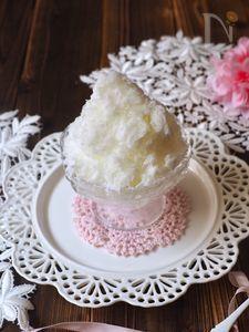 特製牛乳氷でかき氷🍧