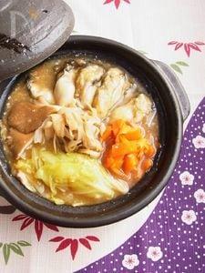牡蠣の土手鍋風