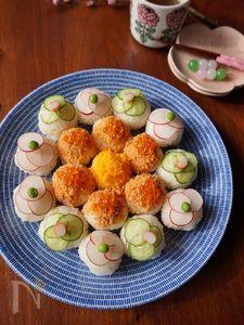 ひな祭りに!お花の手まり寿司
