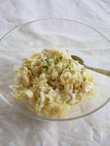 塩もみキャベツとツナのカレーマヨサラダ