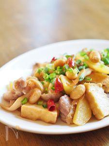 鶏肉と厚揚げのピリ辛炒め