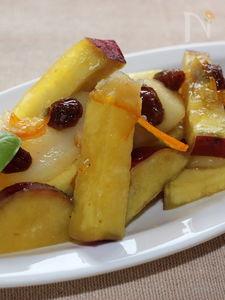 サツマイモとリンゴの甘煮、オレンジマーマレード風味