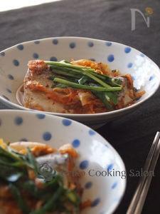 鯖のキムチ煮