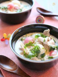 七草・ごま豆乳鍋。