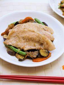 野菜たっぷり☆焼かない生姜焼き風