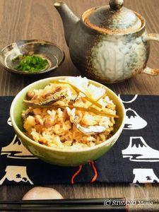 節分豆といりこの炊き込みご飯