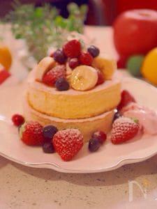牛乳パックの型で焼く、ふっわふわの厚焼きパンケーキ