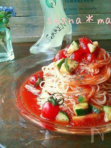 5分で出来ちゃう!?ツナとトマトの冷製パスタ♪