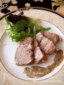 カモミール豚 海苔クリームソース