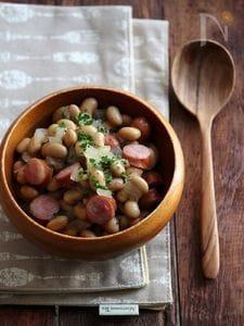 ウインナーとお豆のコンソメ煮。
