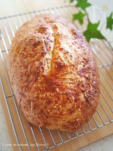 簡単★薄力粉で作るチーズ2種のチャパタ