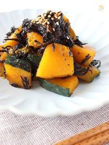芽ひじきとかぼちゃの炒め物