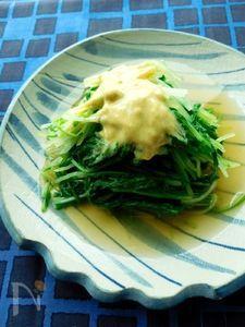 しゃきしゃき水菜の辛子和え