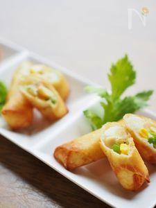 マッシュポテトと大豆のミニ春巻