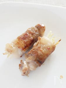 新ショウガの豚肉巻き