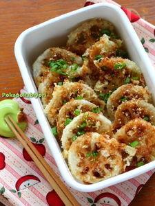 れんこんの天ぷら~甘辛タレ味