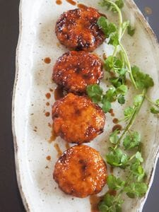 鶏胸肉&蓮根の柚子胡椒バーグ