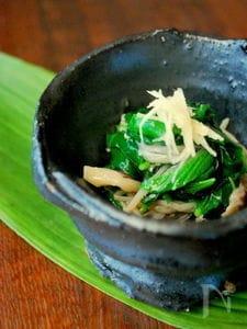 菌活で美しく!キノコの常備菜でモロヘイヤの冷たい一皿