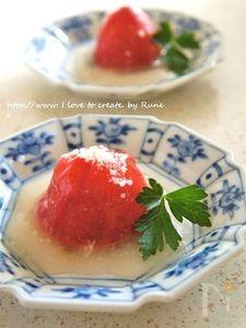 焼きトマトのイタリアン白出汁餡のお惣菜