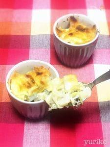冬野菜のマヨチーズ焼き