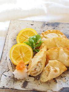 厚揚げと玉ねぎの揚げ餃子&焼き餃子