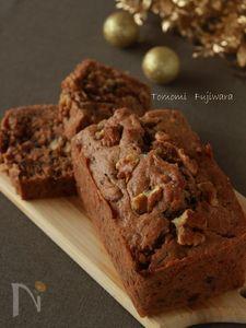 【ココナッツオイル】あんことくるみのパウンドケーキ