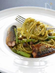 秋味♪秋刀魚のジェノベーゼスパゲティ