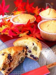 簡単ッ♪旨ッ♪きな粉と甘納豆の和カップケーキ♡
