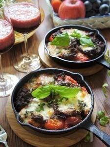 こま切りビーフ&トマトのモッツレラドリア