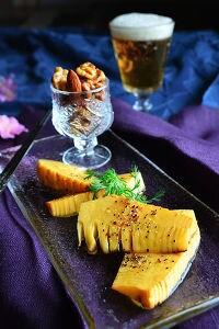 旬のおつまみ野菜。 土鍋で簡単 たけのこの燻製
