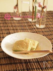 【片栗粉で作る】抹茶きなこ餅