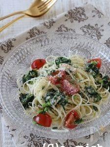 モロヘイヤとミニトマトのカッペリーニ風そうめん