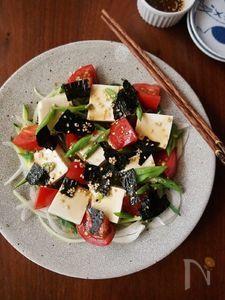 野菜もたっぷり!韓国風豆腐サラダ