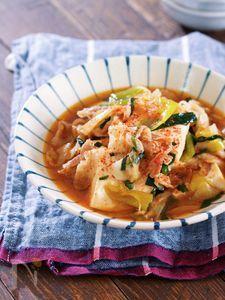 煮るだけ5分♪『豚バラ豆腐のすき焼き風とろみ煮』