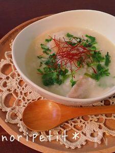 炊飯器de簡単♡美味しい♡参鶏湯風 七草粥