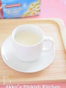 カモミールミルクティー リラックス効果のあるハーブドリンク