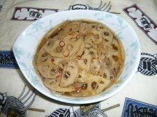 蓮根と糸コンのピリ辛煮