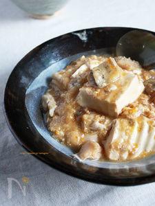 ふわふわ豆腐とたらの卵あんかけ