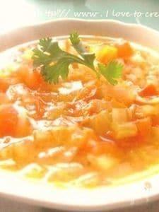 免疫力を高める野菜スープin玄米ご飯