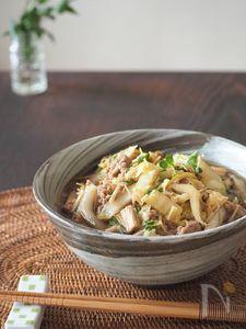 豚肉と白菜のワサビのかおり蕎麦